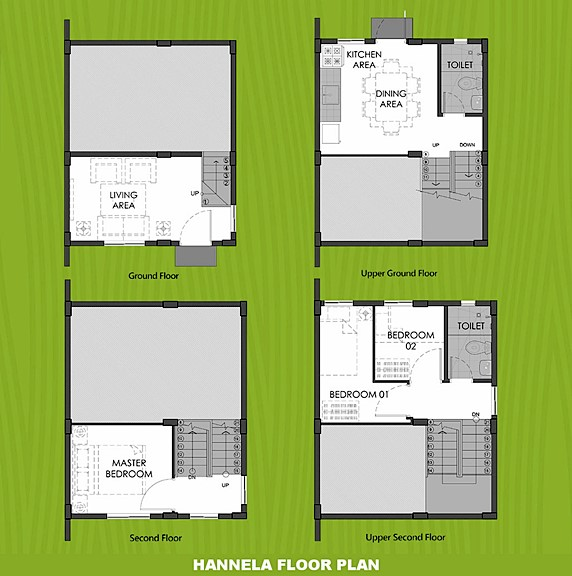 Hannela Floor Plan House and Lot in Capiz