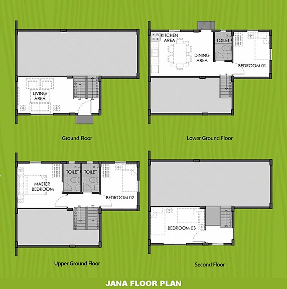 Janna Floor Plan House and Lot in Capiz