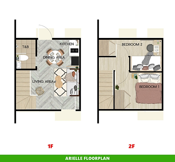 Arielle Floor Plan House and Lot in Capiz