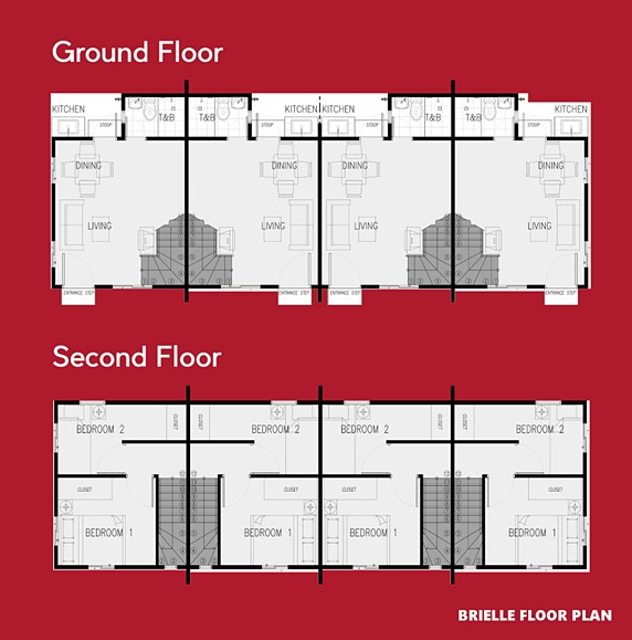 Brielle Floor Plan House and Lot in Capiz