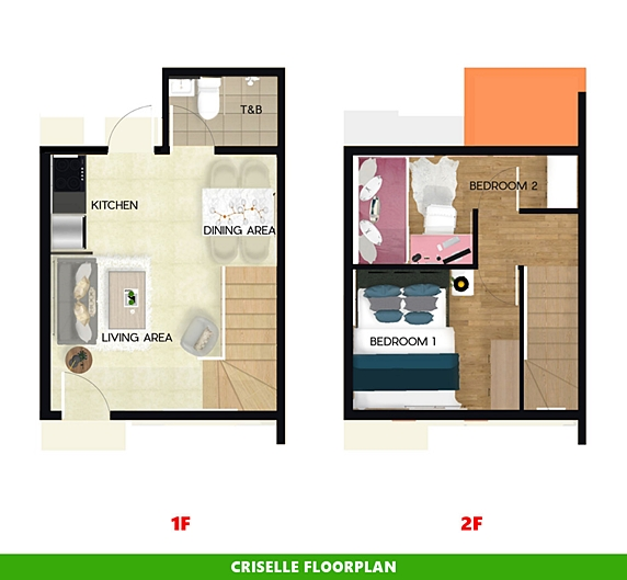Criselle Floor Plan House and Lot in Capiz
