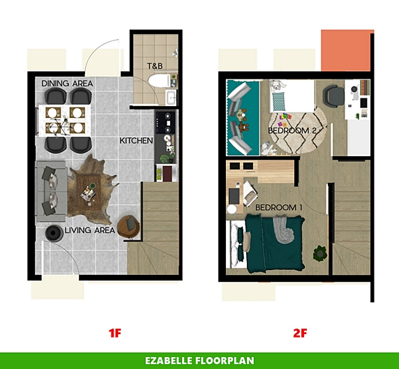 Ezabelle Floor Plan House and Lot in Capiz