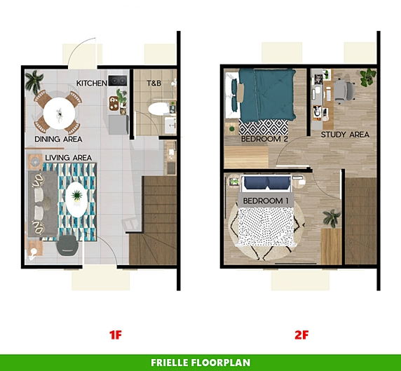 Frielle Floor Plan House and Lot in Capiz